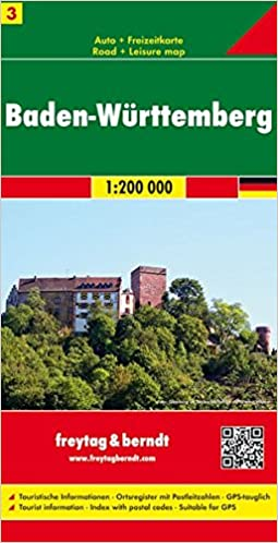 Baden Wurttemberg Germany Road Map Road Maps Amazon Co Uk