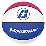 Baden Mini Rubber Basketball, Red/White/Blue, Size 3