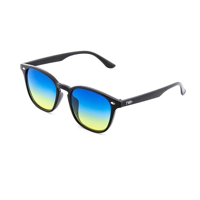 Gafas de sol TWIG RENOIR degradadas hombre/mujer (Negro/Azul ...