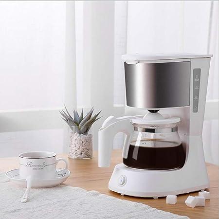 ZhiWei Máquina de café con Filtro de cafetera de Goteo Diseño antigoteo de un Toque Cafetera de 4 Tazas Decoración de Acero Inoxidable para el hogar, los Viajes y la Oficina: Amazon.es: