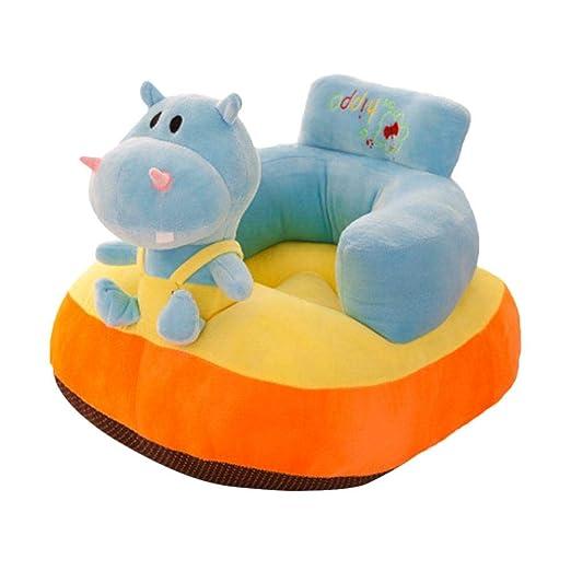 Hualieli Sofá Infantil para niños para Aprender Sentarse Silla de niños para el sofá de Aprendizaje, Cojines de Cama para Suelo, Azul, qq河马款