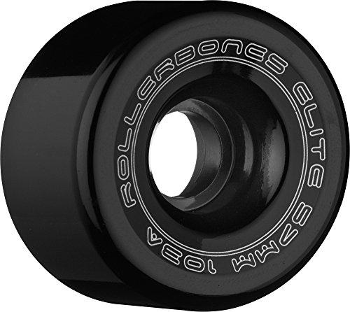 RollerBones Art Elite 103A Competition Roller Skate Wheels (Set of 8), Black, 57mm