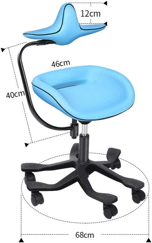 QIQIDEDIAN オフィスチェア 椅子レセプションをひざまずいエルゴノミックチェアデスクチェア脊髄補正議長議長は、スタイリッシュなリフトチェア (Color : Orange)