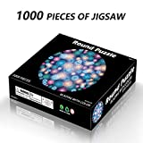 Easyu Fireworks Pattern Round Puzzle for Adult 1000 Piece 1.6mm Thickness Large Game Interesting Toys Personalized Gifts, 65x65 cm / 26x26inch