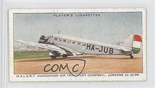 M.A.L.E.R.T. (Hungarian Air Transport Company): Junkers JU 52/3M (Trading Card) 1936 Player's International Air Liners - Tobacco [Base] #27 ()