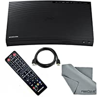 Samsung BD-J5900 Wi-Fi & 3D Blu-Ray Disc Player with HDMI Cable + FiberTique Cleaning Cloth + Remote