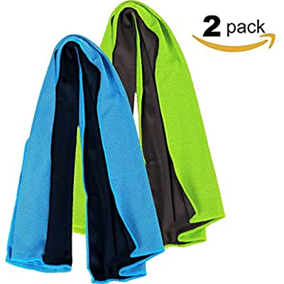 """Aosce Cool Towel, 40""""x12"""" Microfiber Cooling Towel for Instant Cooling Relief in Hot Environment, Ice Towels Stay Cool for Sports and Fitness"""