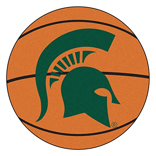 NCAA Michigan State University Spartans Basketball Shaped Mat Area Rug ()