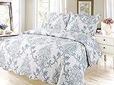 Taj Paisley Printed Bedding 3 Piece Bedspread Quilt Set, King