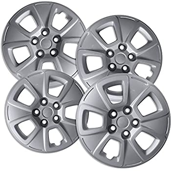 OxGord 15 inch Hubcaps Best for 2010-2013 Kia Soul - (Set of 4) Wheel Covers 15in Hub Caps Silver Rim Cover - Car Accessories for 15 inch Wheels - Snap On ...