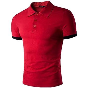 NISHISHOUZI Moda Hombres Transpirable Polo Shirt Hombres Macho ...