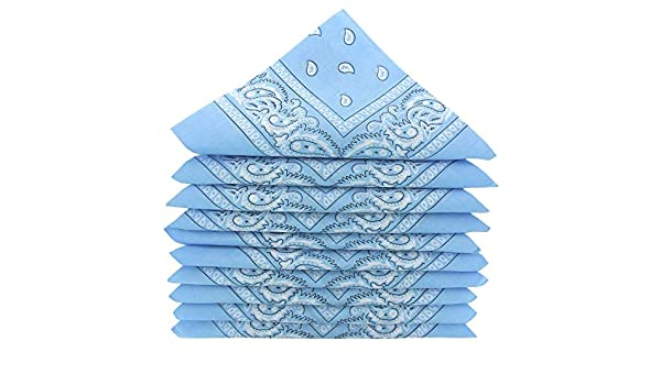 KARL LOVEN – Lote de pañuelos 100% algodón Paisley pañuelo fichu bandana – Lote de 600 unidades azul cielo: Amazon.es: Ropa y accesorios