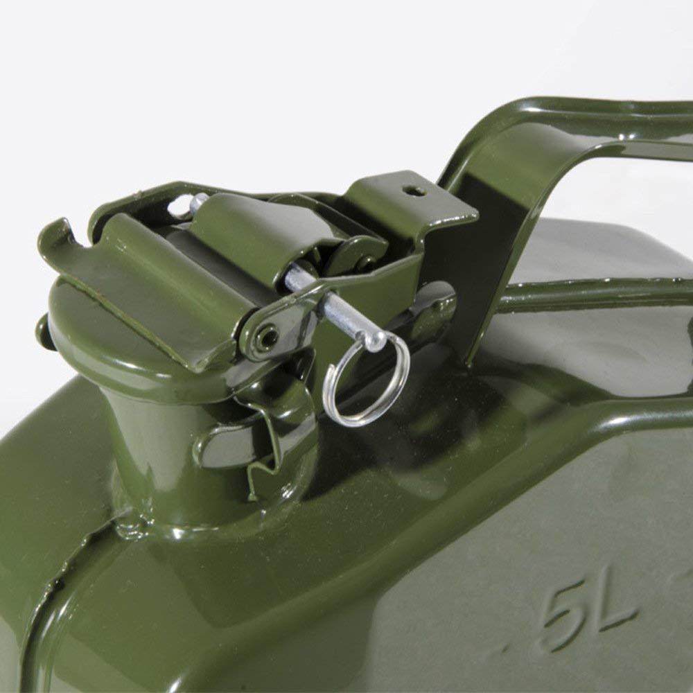10 Lt con beccuccio EGLEMTEK Tanica in Metallo per Carburante Benzina Omologata Un con Chiusura Ermetica