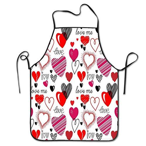 (RoseFlowers Cute Apron Bib Patterns Love Theme Hearts Hearts Love Theme Hearts Valentine S Day Wallpaper Happy Restaurant Kitchen Chef Cooking BBQ Aprons)