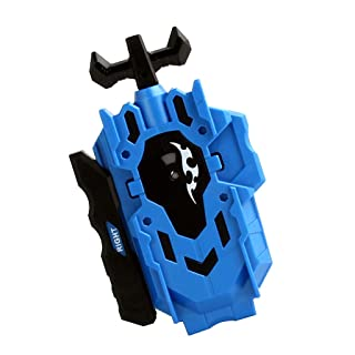 MagiDeal Plastic Double Steering Left + Right Spin String Launcher Burst Spinning Top Character Toy Rapidity Fight Master Accessories - Blue