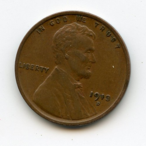 1913 D Lincoln Cent XF45