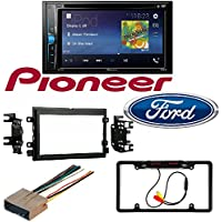 2004-2016 Ford F250/350/450/550 Pioneer AVH-200EX 2-Din 6.2 DVD/CD/iPhone/Android/Bluetooth Car License Plate Rearview Camera - Black CAM810B