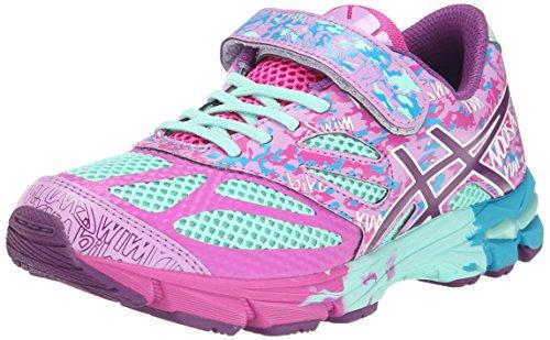 (ASICS GEL Noosa Tri 10 PS Running Shoe (Infant/Toddler/Little Kid),Beach Glass/Plum/Hot Pink,2 M US Infant)