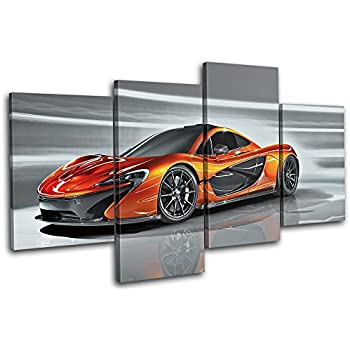Bold Bloc Design   Mclaren P1 Exotic Supercar Cars 120x68cm MULTI Canvas  Art Print Box Framed