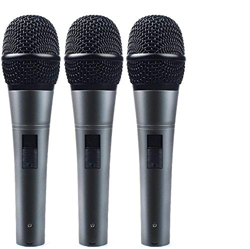 Microphones Vocal Wired Microphone (Professional Dynamic Cardioid Vocal Wired Microphone with XLR Cable (19ft XLR-to-1/4 cable), MAONO-K04 Metal Cord Mic Plug And Play for Stage, Performance, Karaoke, Public Speaking,Home KTV(3 pack))