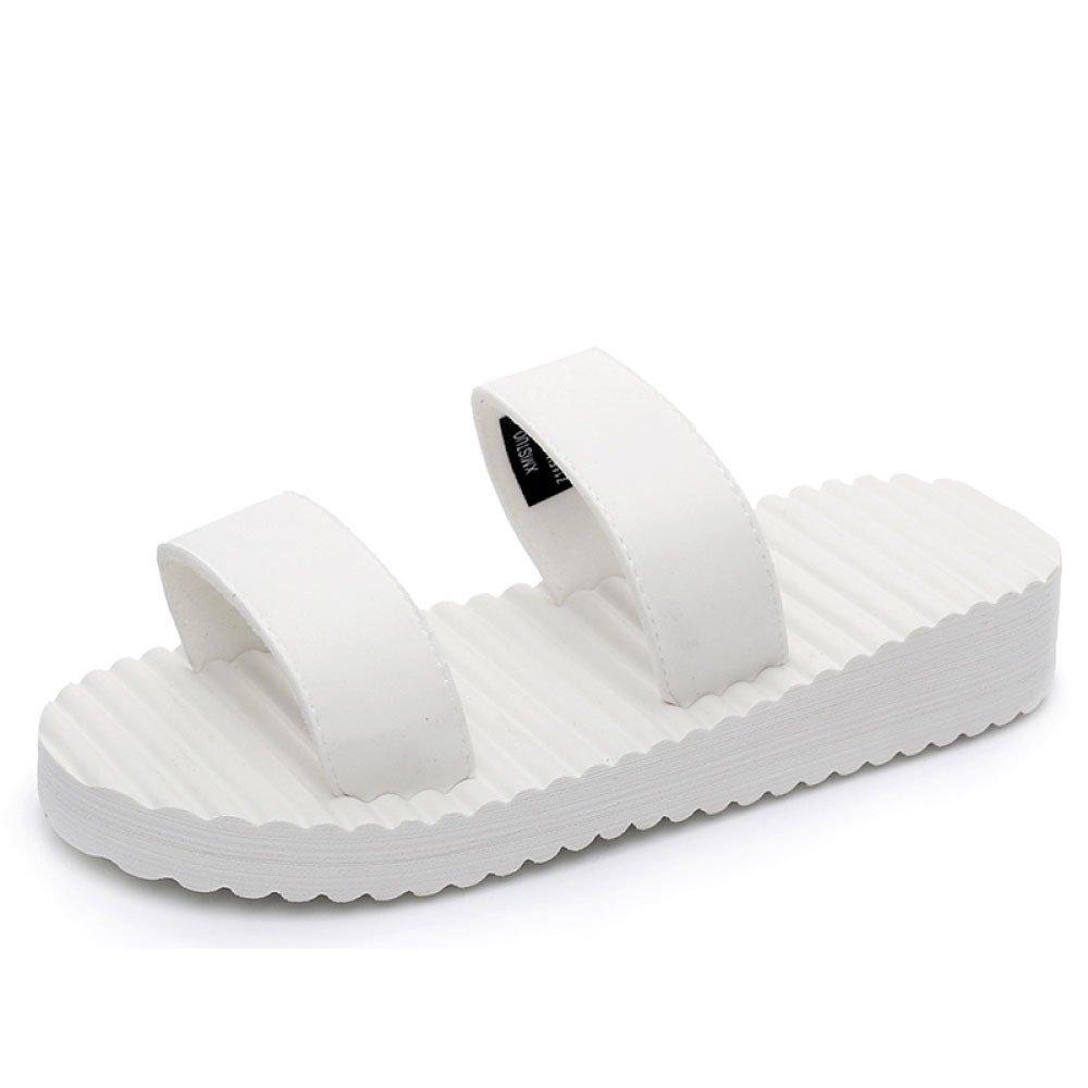CHENGXIAOXUAN Sandalias De Mujer Zapatillas De Verano Nuevas Sandalias Simples De Moda Ocasionales Pantuflas De Mujer Antideslizantes Zapatillas Medianas Zapatos De Playa Sólidos