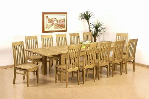 Esszimmer Günstig   Tisch 308x90 12x Stuhl Klassik Pinie Massiv Esszimmer Essgruppe