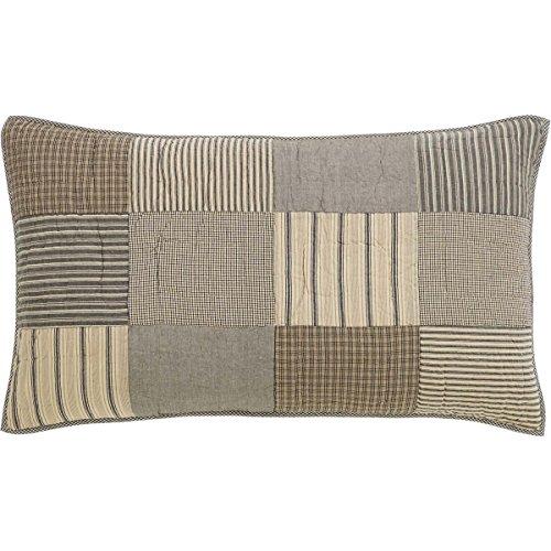- VHC Brands Farmhouse Bedding - Sawyer Mill Grey Sham, King, Charcoal