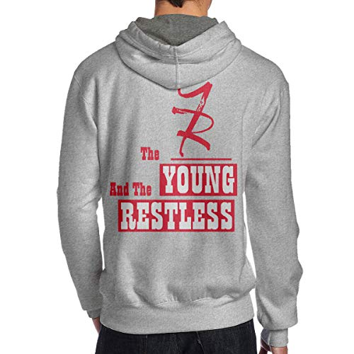 Hoodie Men's The Young and The Restless Classic Adult Pullover Gray Shirts S
