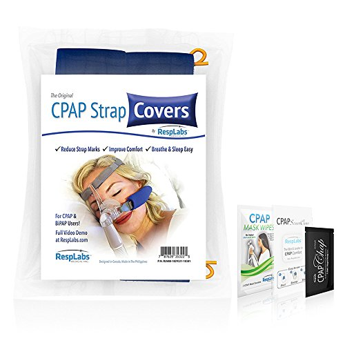 CPAP Headgear Strap Covers, Mask Pads - Universal 2 Pack | Extremely Comfortable Soft Fleece | Machine Accessories & Equipment Supplies by RespLabs