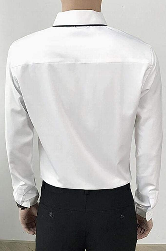 Fubotevic Men Warm Winter Thicken with Velvet Business Long Sleeve Button Down Blouse Shirt Tops