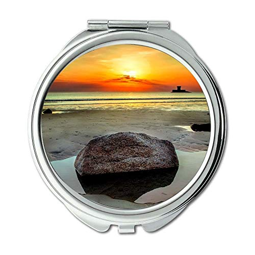 Mirror,Compact Mirror,beach clouds colour,Pocket Mirror,portable -