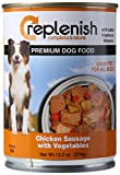 Replenish Canned Dog Food, Chicken Sausage W/Vegtables (Pack of 12 13.2-Ounce Cans)