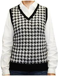 Ladies Houndstooth Sweater Vest