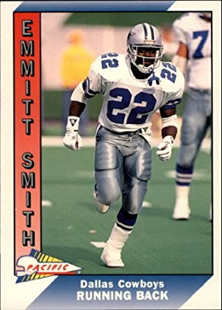 Amazoncom 1991 Pacific Football Card 107 Emmitt Smith Near Mint