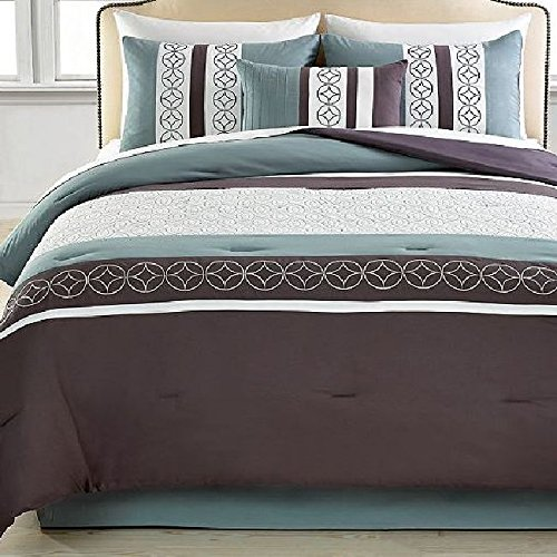 Hallmart Mercer 5 Piece Comforter Sets King Gray
