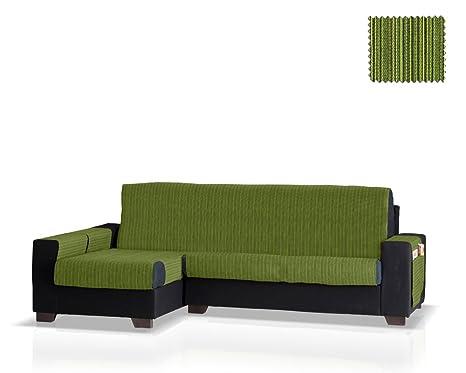 JM Textil Cubre sofá Chaise Longue Rino, Brazo Izquierdo, tamaño Normal (243 Cm.), Color 04
