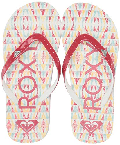 Roxy Girls' RG Pebbles Flip Flop Sandal, Multi Pattern, 1 M US Big Kid