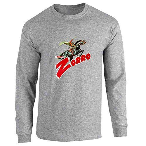 El Signo De Zorro Retro Halloween Costume Sport Grey L Long Sleeve T-Shirt