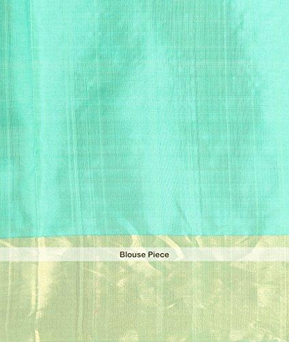 Indian Ethnic Upadda Silk Light Green Uppada Saree by Simaaya Fashions Pvt Ltd (Image #3)