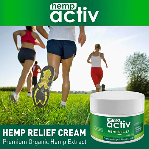 51INhnL0b6L - HEMPACTIV Hemp Pain Relief Cream  | Hemp + MSM + Arnica + Menthol | Relieve Muscle, Joint & Arthritis Pain | Effective Hemp Pain Cream | 2oz