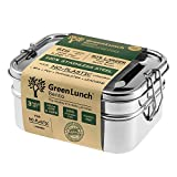 LARGE Stainless Steel 3-in-1 Bento Lunch Box + FREE LIFE-TIME WARRANTY| Holds 6