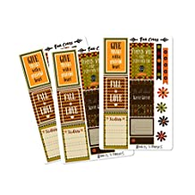 Fall Autumn Sticker Sheets | Planner Stickers for The Happy Planner (Fall Colors_HP Matte)