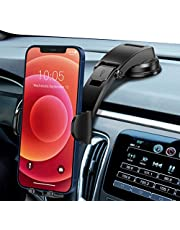 Car Phone Holder Mount, Dashboard Phone Holder with Strong Sticky Gel Suction Cup, Dual Release Button Car Phone Mount, Cell Phone Holder for Car iPhone SE 11 Pro Max XS/R, Galaxy Note 20 S20...