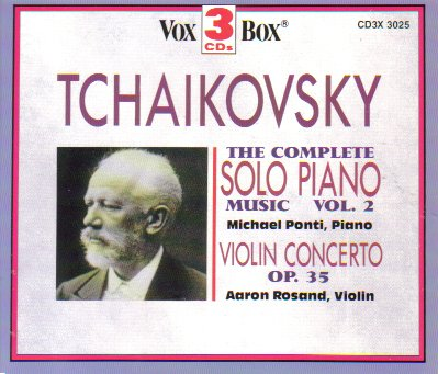 Tchaikovsky: The Complete Solo Piano Music, Vol. 2; Violin Concerto Op. 35 by Vox Box
