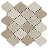 MTO0118 Modern Linear BrownWhite Glazed Porcelain Mosaic Tile