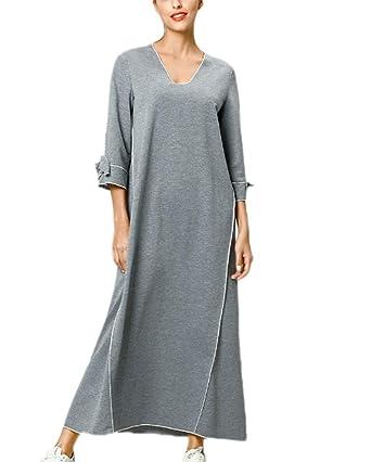 Hellowarm Vestido musulmán árabe Oriente Medio túnica Falda Larga ...