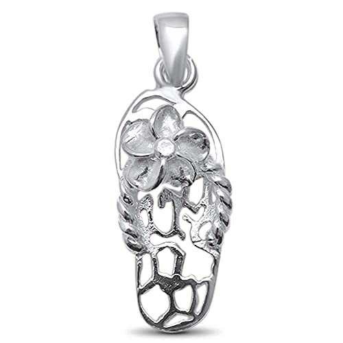 Oxford Diamond Co Plain OM .925 Sterling Silver Pendant