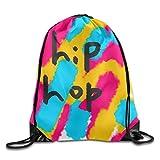 3D Print Drawstring Backpack Rucksack Shoulder Bags Gym Bag Lightweight Travel Backpack Hip Hop Abstract Painting