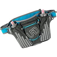 Ultimate Direction Groove Stereo Belt with Bottle (Graphite/Blue)