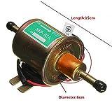 12 Volt Universal Electric Car Fuel Pump Metal Solid Diesel Petrol HEP-02A SET